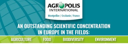 Poster 'The scientific community in key figures and the missions of Agropolis International'
